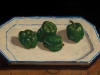 Peppers on an Antique Platter