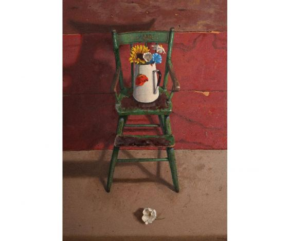 Green High Chair <br/> Oil on panel, 36 x 24 in., 2012